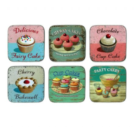 Martin Wiscombe Vintage 50s Cakes Coasters Set